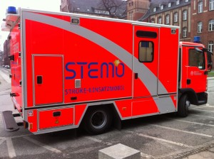 ct scanner in a specialized stroke ambulance