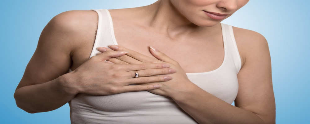 Felt any lumps in your breast. It can be a sign of Breast cancer